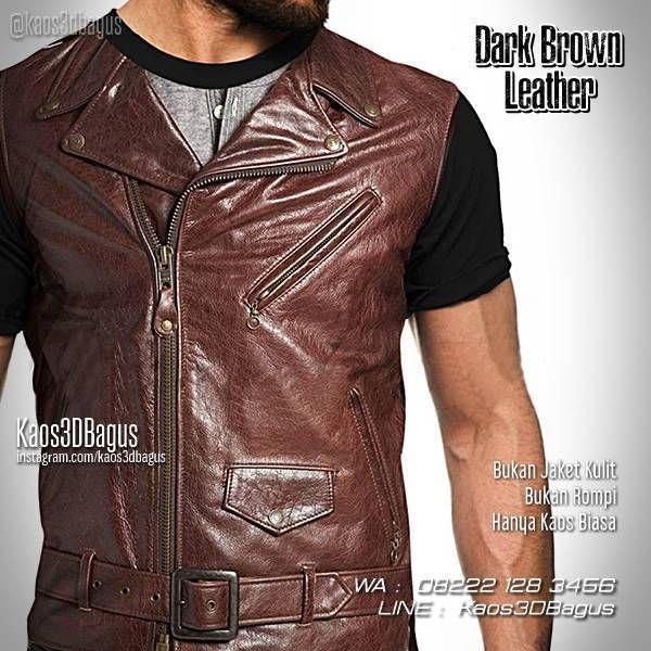 Kaos 3D Jaket Kulit, Kaos 3D Gambar Jaket Kulit Coklat, Dark Brown Leather Jacket 3D Tshirt, Kaos Unik, Kaos Dugem, Kaos Clubbing, Kaos Retro, WA : 08222 128 3456, LINE : Kaos3DBagus, https://kaos3dbagus.wordpress.com/2017/03/08/kaos-jas-kaos-jaket-kulit-kaos3d-fashion/