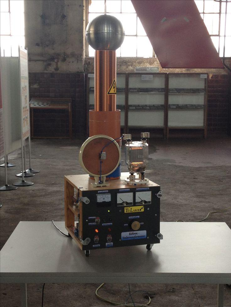 A Tesla Coil Set Nikola Tesla Pinterest Tesla Coil