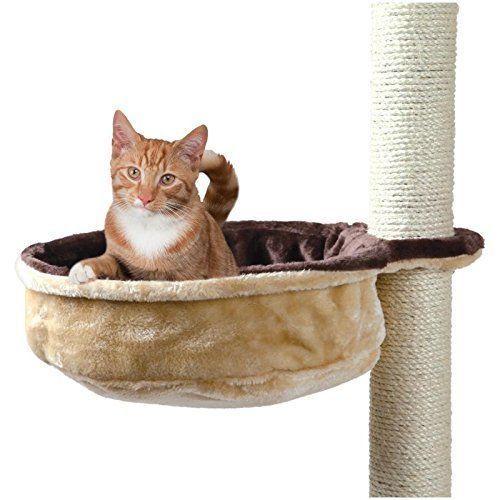Kitten Cat Scratching Post Plush Cuddly Bag Reversible Metal Frame Beige Brown