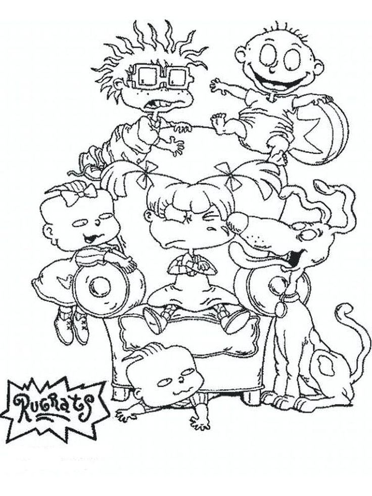Chuckie Rugrats in 2020 Cartoon coloring pages, Baby