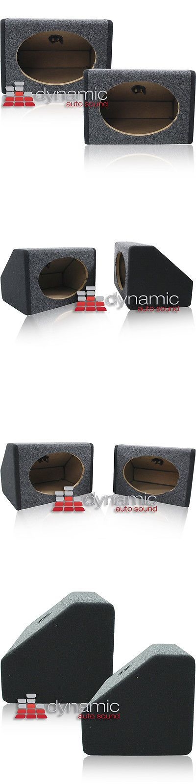"Other Car Audio: Car Audio 6""X9"" Truck Angled Speaker Enclosure Mdf Sealed Box Speakers Pair New -> BUY IT NOW ONLY: $37.99 on eBay!"