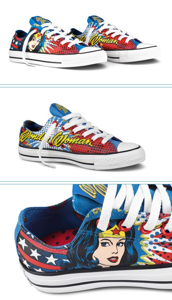 wonder woman chucks - I must purchase these!