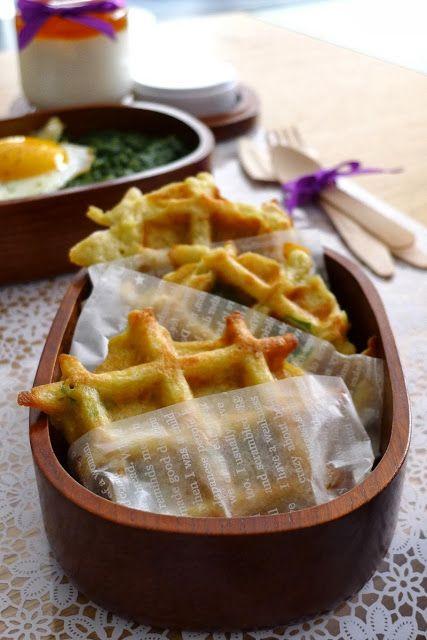 Gaufres de pommes de terre au gruyère | Recettes pour mon bentô #recette #PommesDeTerre #gaufres #food