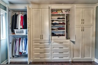 Built in closet - traditional - closet - toronto - by spaces inc.