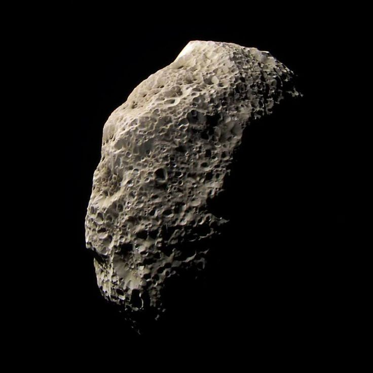 Hyperion is a moon of Saturn which has a size of 360 x 270 x 205 km. It is the largest irregular object of the Solar System after Proteus, a moon of Neptune.Its surface is dominated by a vast crater, with a diameter of 120 km and a depth of 10 km.The moon is then covered by a layer of dark material whose origin is still uncertain. It has been supposed that it can be methane from the atmosphere of Titan or material from Phoebe that has darkened its surface, similar to what happened on…