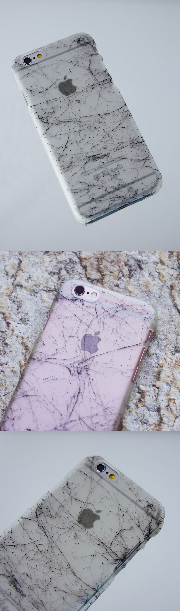 Marble & Clear Case for iPhone. Show off without blending in! Available for iPhone 6 | 6s & iPhone 6 Plus | 6s Plus