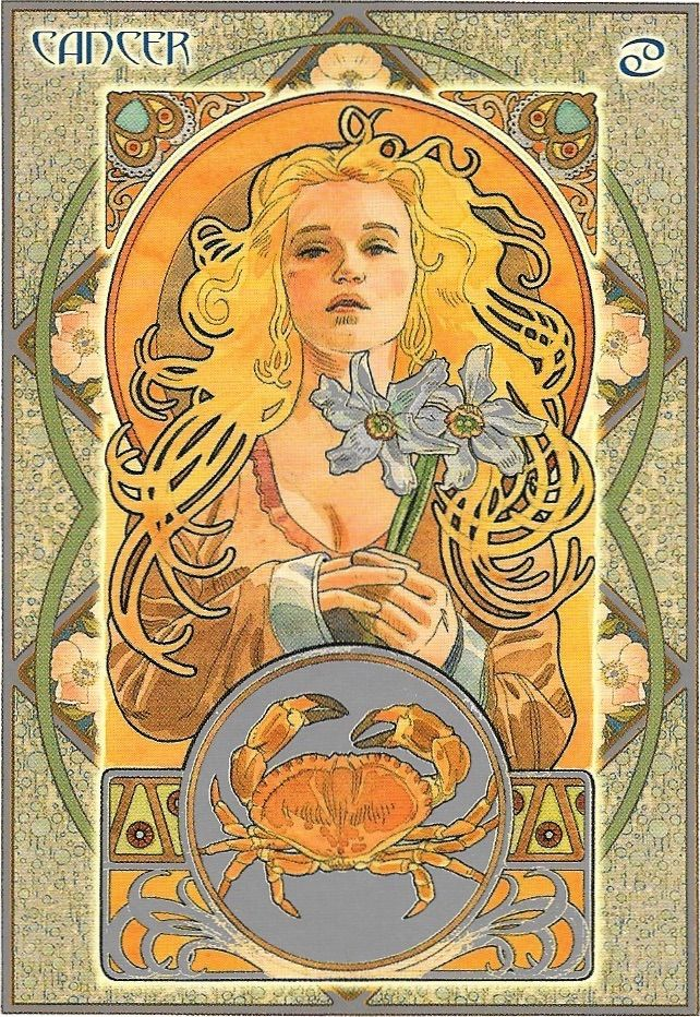 Paper - Signe astrologique Cancer by Alfred Mucha