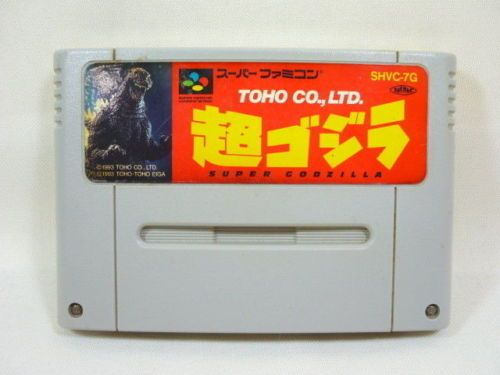 Super-Famicom-SUPER-GODZILLA-Video-Game-Nintendo-Cartridge-Only-sfc