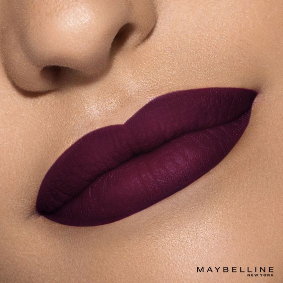 It's wine time. Maybelline Vivid Matte Liquid lip color in 'Possessed Plum' is a deep wine hue that calls for romantic evenings. The creamy texture delivers pure pigments for a saturated shade with a velvety matte finish. Click to buy this shade and see the rest of the collection!