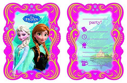 Disneys Frozen Elsa and Anna Birthday Party Pack of 12 Invitations @ niftywarehouse.com #NiftyWarehouse #Frozen #FrozenMovie #Animated #Movies #Kids