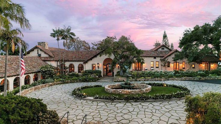 $16 Million Dollars Gorgeous Santa Barbara Spanish Villa With Majestic V...