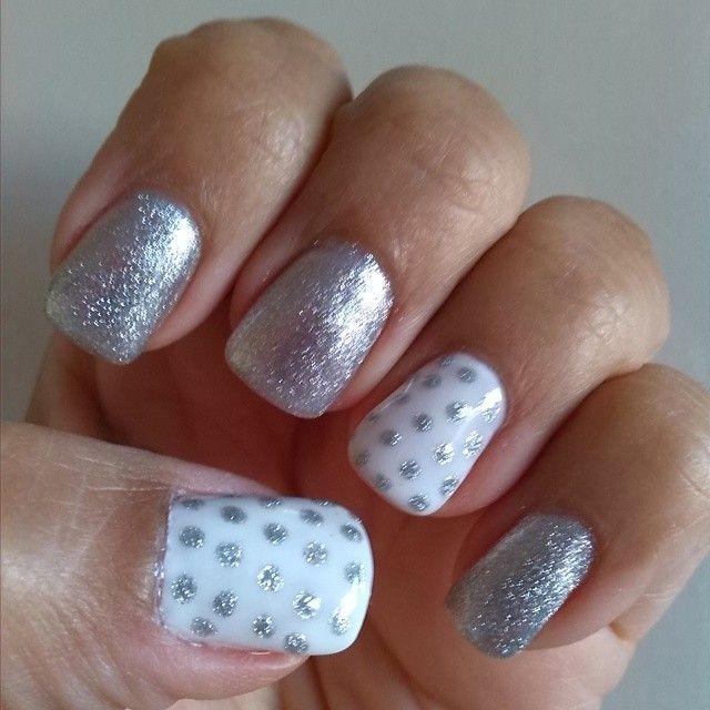 Base Strong Gel UV, Verniz (esmalte) de Gel UV prata, um luxo! ;) #madebyjanagomes