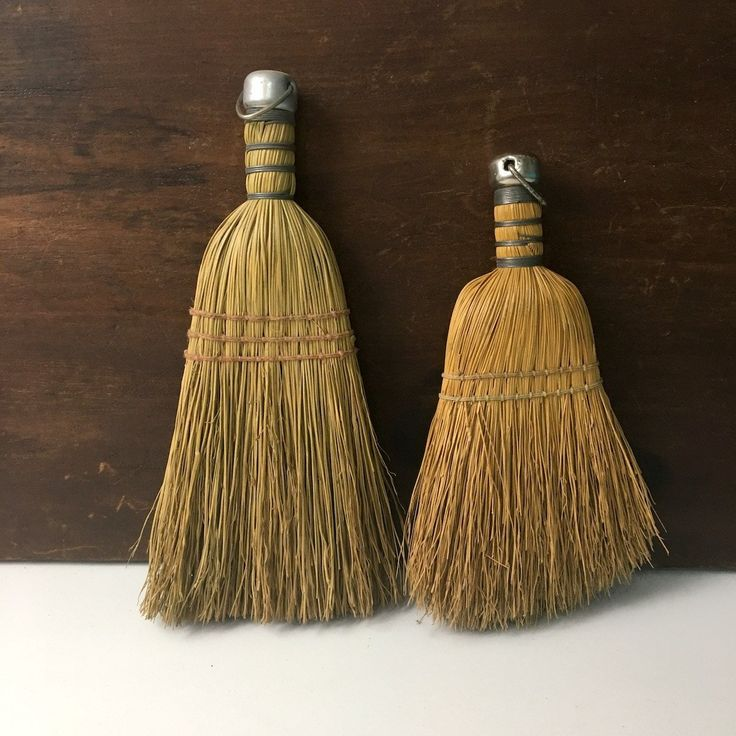 Whisk brooms - vintage housekeeping aid for small sweeping - 1960s