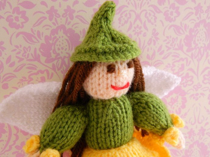 Daffodil Fairy Knitted Doll - Toy Knitting Pattern by Joanna Marshall, £2.50 GBP
