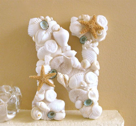 77 best beach seashell letters images on pinterest for Big seashell crafts