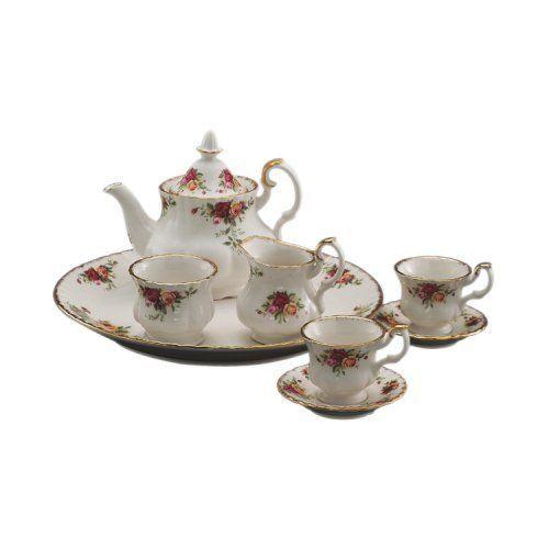 Royal Albert Old Country Roses 3 - piece tea set England 1904 BRAND NEW #RoyalAlbert