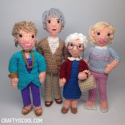 Make your own Golden Girls: These crochet patterns are so fun and hilarious, you just have to try them