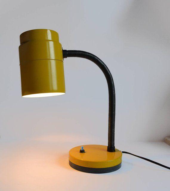 Retro Desk Lamp Vintage Table Lamp Vintage 80s Yellow Office Etsy Retro Desk Lamp Vintage Table Lamp Desk Lamp