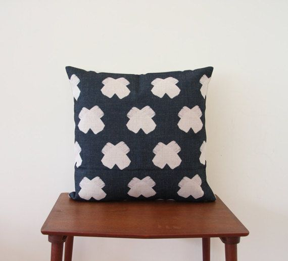 "18""x 18"" Decorative Pillow, Pillow Cover, Cushion Cover,  Geometric Cushion, Swiss Cross Cushion, Scandinavian Minimalist Cushion 352"
