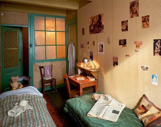 De kamer van Anne Frank en Fritz Pfeffer