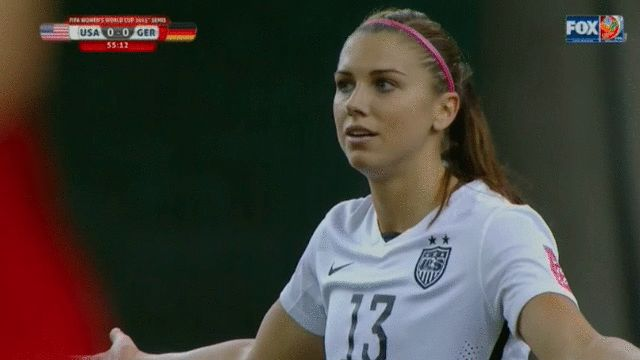 When someone asks if they can have a cookie before soccer practice. Alex Morgan says NOOOOO!