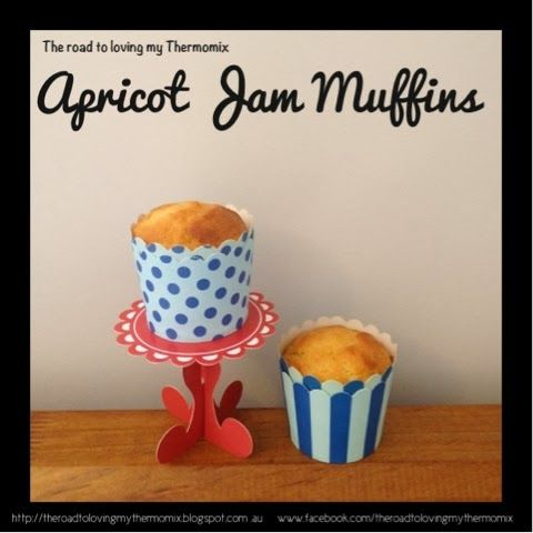 The road to loving my Thermomix: Apricot Jam Muffins
