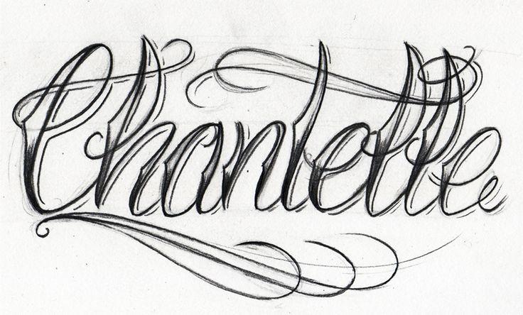 CHANTELLE   Letras, tipografía & pintas.   Pinterest