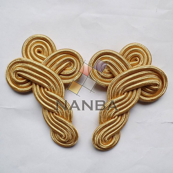 This is Uniform Band Master Shoulder Cord, it is made of gold mylar wire, 4 PLY. For more information contact us.