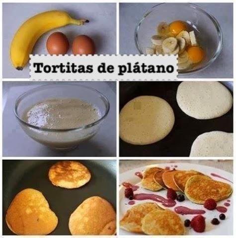 Tortitas de plátano: Mejor 1 huevo 2 platanos