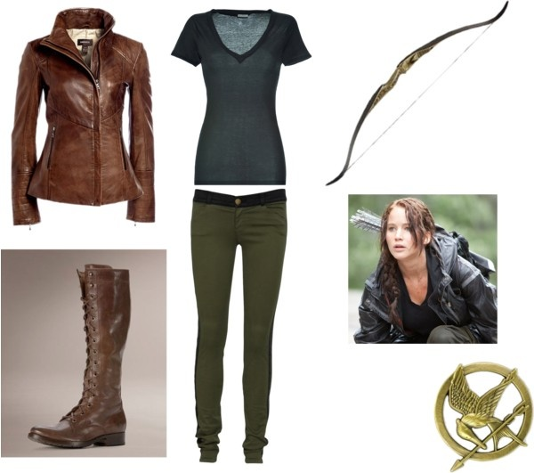 Katniss hunting outfit - LOVE the boots!