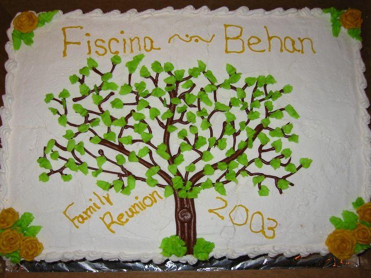 family reunion cake designs   Jen's neighbor made this awesome cake.