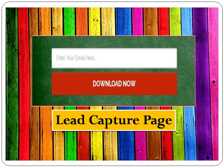 what is a lead capture page