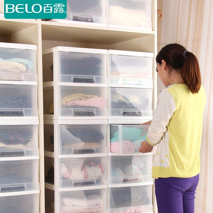 Сто выставляли ящик прозрачный пластиковый ящик для хранения шкаф хранения ребенок ребенок шкаф одежда отделка коробки-определиться с ящик для хранения. com дней кошка