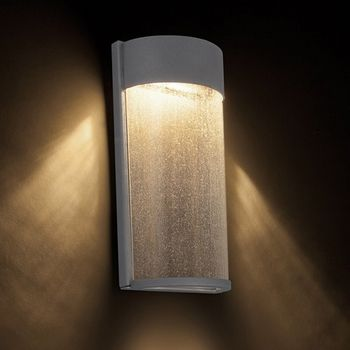 Evoking An Images Of Gentle Rainfall The Rain Outdoor Wall Light Uses LED Technology To Highlight Clear Seedy Glass In A Dark Sky And ADA Compliant