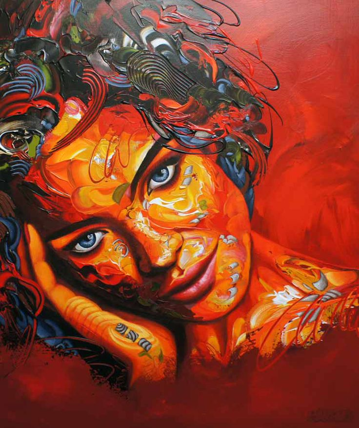It's Written All over her face, 120x100x4 cm