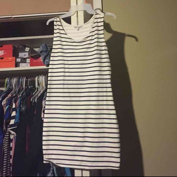 White BodyCon Dress Blue and white striped.                       ****Reminder to buyers: I can only LOWER this item on MERCARII : most prices are firm up here because they take out fees...thank you ******* Charlotte Russe Dresses Mini