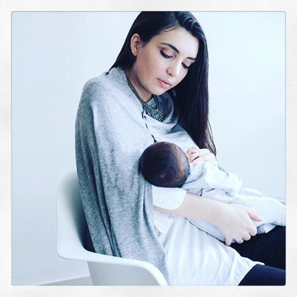 "This amazing nursing shawl from Seraphine is just a life saver!First it's very chic, soft and light (which pleases both mama and baby). You can wear it 6 stylish ways like a poncho, a scarf, a wrap… It's very easy to mix and match with your outfit and is just perfect to breastfeed baby elegantly in public""Thank you so much #surface85com for your kind words!maternity clothes 