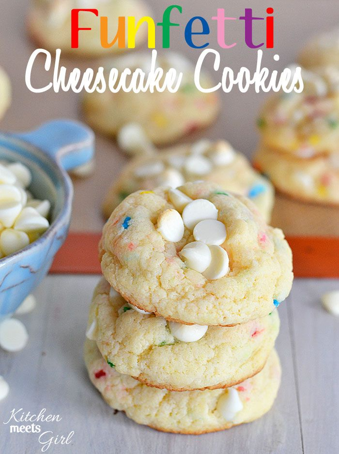 Funfetti Cheesecake Cookies