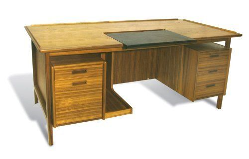 """3pc Rectangular Modern Wood Executive Office Desk Set, #JS-DAN-D2 by UTM. $3699.00. Detail - dovetail craftsmanship with hand rub oil finished. Cord Management - smart wired management. Wood - hand crafted with real solid wood framing with selected wood veneered. Function - sliding leather writing pad, conceal keyboard storage, self contained book storage. 69"""" x 35.5"""" x 29.5""""h, Weight (lbs) N/A, Material Solid wood framing and veneer, dovetail craftsmanship, hand-rubbed oil f..."""