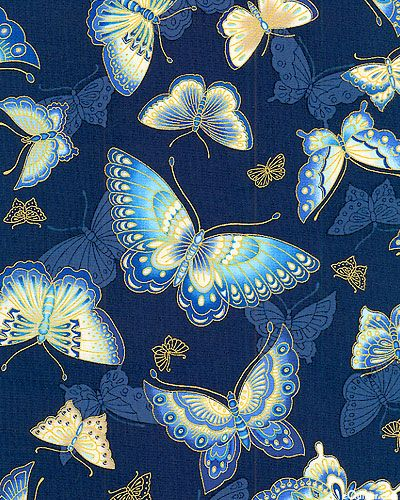 Imperial Collection 10 - Butterfly Glimmers - Indigo/Gold