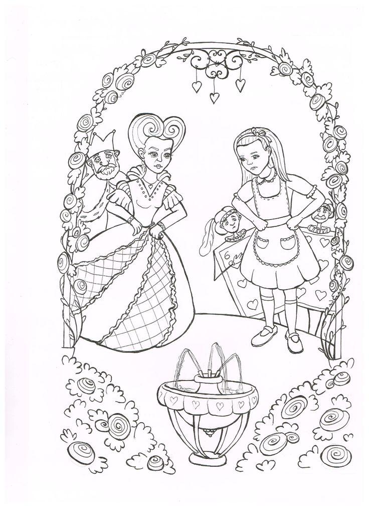 Contemporáneo Alice In Wonderland Coloring Pages Enojado Sombrerero ...