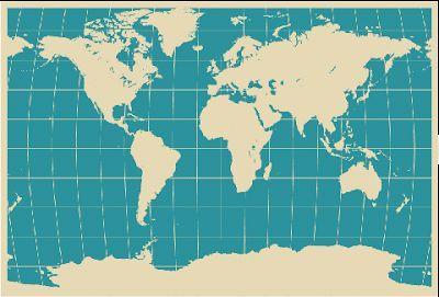 vector mapa mundi gratis
