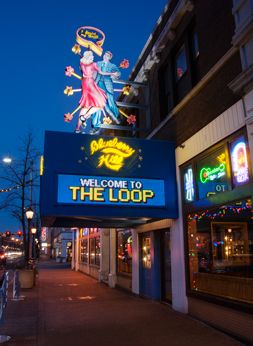 Blueberry Hill is a landmark restaurant and music club filled with pop culture memorabilia. Located in The Loop along the St. Louis Walk of Fame, their menu has something for everyone. Blueberry Hill features live music by touring and St. Louis bands, including rock & roll legend Chuck Berry.