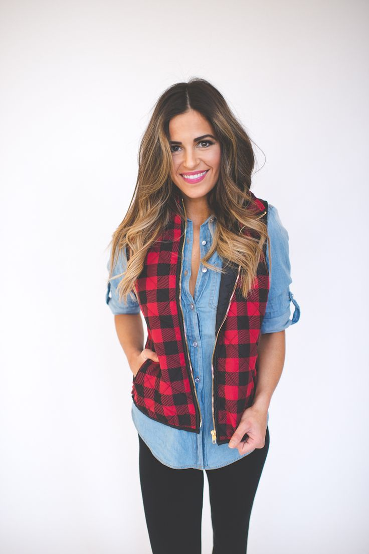 Dottie Couture Boutique - Black/Red Checkered Vest , $54.00 (http://www.dottiecouture.com/black-red-checkered-vest/)