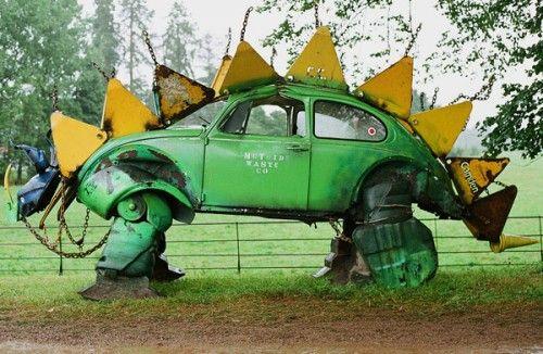 Volkswagen Beetle Stegosaurus Sculpture#Repin By:Pinterest++ for iPad#