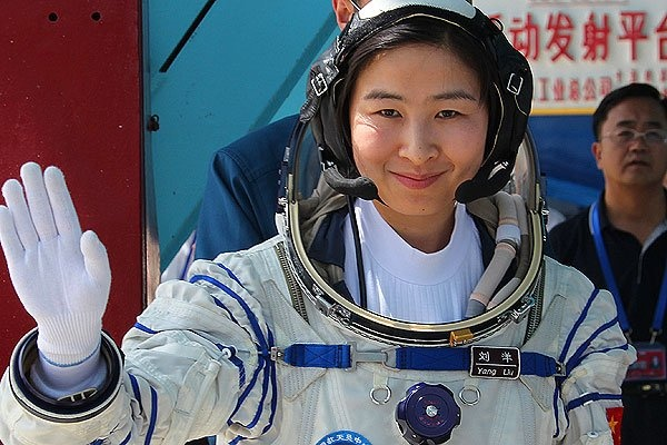 Half the Sky: China Prepares to Send First Female Astronaut into Space  Liu Yang will be in orbit with two other astronauts for nearly two weeks.      Read more: http://world.time.com/2012/06/15/half-the-sky-china-prepares-to-send-first-female-astronaut-into-space/##ixzz1y0XJWJMA © WANG JIANMIN / XINHUA / ZUMAPRESS.COM