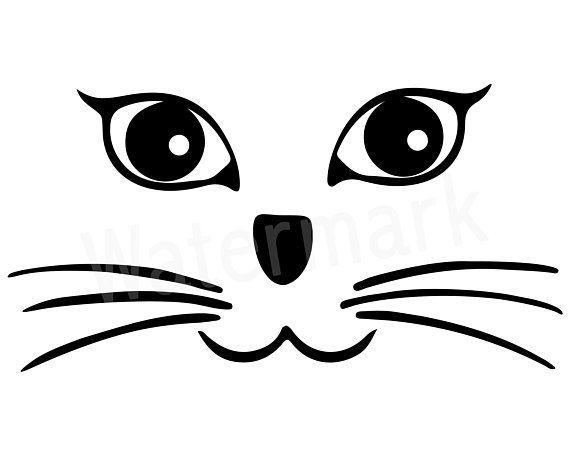 Cat Face Svg Cat Face Kitten Face Cat Whiskers Cat Head Cat Lover Kitty Face Cat Mom Cat Mug Fur Mom Cat Tshirt Digital Download Cat Face Cat Mom Cat Whiskers
