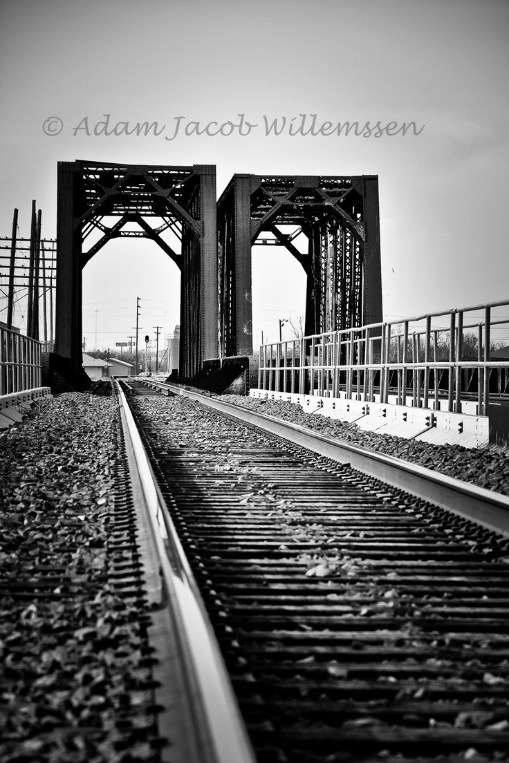 Railroad bridge wichita falls texas 8 x 12 black and white print