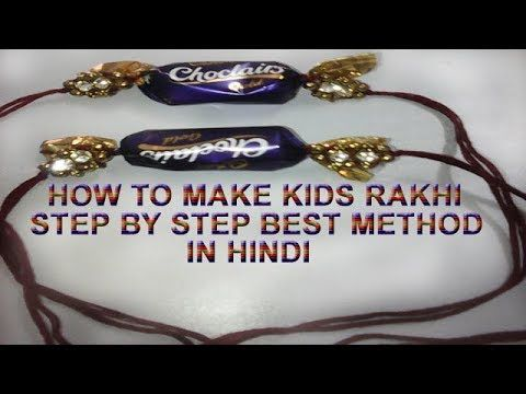 How to make kids rakhi step by step method in hindi|diy|rakhi making for...