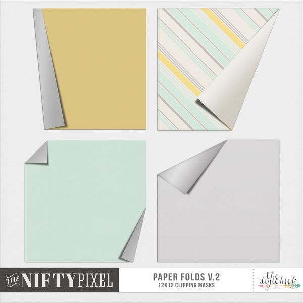 <p> Paper Folds V.2 Clipping Masks for digital scrapbooking by The Nifty Pixel.</p>